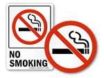 No Smoking Glass Decals