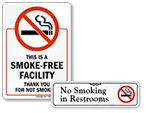 No Smoking in Bathroom Signs