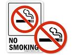 No Smoking Window Decals