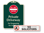 No Solicitors Signs