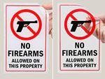 No Weapons Decals