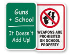 No Weapons in School Signs