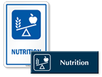 Nutrition Door Signs