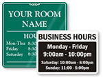 Designer office hour signs