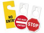 No Entry Door Tags