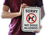 Outdoor No Dog Signs