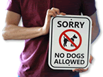Outdoor No Dog Signs