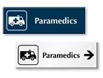 Paramedics Door Signs