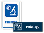Pathology Door Signs