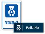 Pediatrics Door Signs