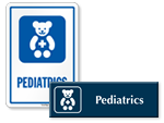 Pediatrics Door Signs