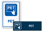 PET Door Signs