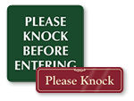 Please Knock Signs