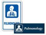 Pulmonology Door Signs