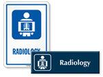 Radiology Door Signs