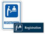 Registration Door Signs