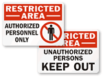 Restricted Area Labels