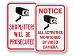 Retail Security Door Signs
