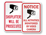 Retail Security Door Signs