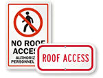 Roof Access Signs