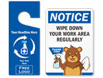 Room Disinfected Signs & Tags