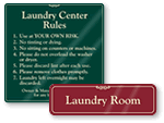 Rules for Laundry Room Signs
