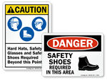 Safety Shoes Signs