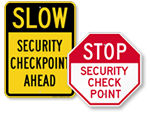 Security Check Point Signs