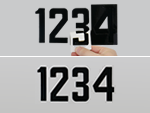 Self Aligning Die Cut Numbers and Letters