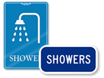 Shower Room Signs