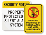 Silent Alarm Signs