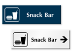 Snack Bar Door Signs