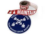 Social Distancing Floor Decals & Signs