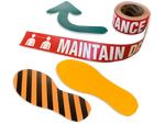 Social Distancing Footprint Floor Signs