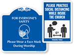 Social Distancing Signs for Churches
