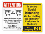 Social Distancing Signs for Stores