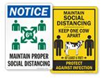 Social Distancing Wall Signs