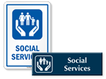 Social Services Door Signs