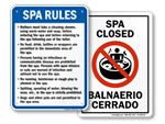 Spa and Hot Tub Signs