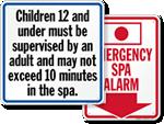 Spa Regulation Signs