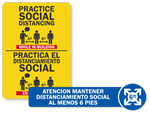 Spanish & Bilingual Social Distancing Signs