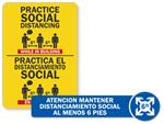 Spanish & Bilingual Social Distancing Signs