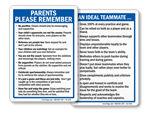 Sports Etiquette Signs