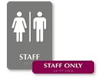 Staff Restroom Signs