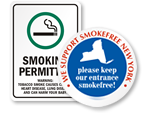State Specific No Smoking Signs