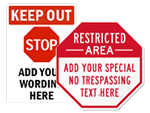 STOP - Restricted Area Signs