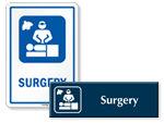 Surgery Door Signs