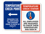 Temperature Check Required Signs