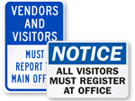 Visitor Door Signs