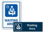 Waiting Area Door Signs